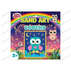 Картинка из песка Sand Art Сова