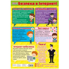 Плакат Правила безопасности в интернете НУШ