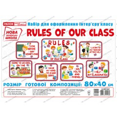 Набор для оформления  Правила нашего класса (английский язык) НУШ