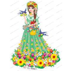 Плакат Красавица Весна