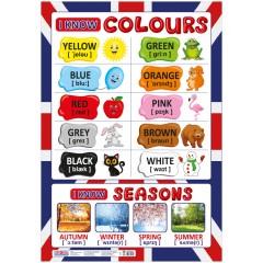 Плакат Английский язык Цвета НУШ