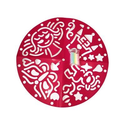"""Игры на улице. Трафареты для девочек """"Рисуем на асфальте"""" - фото Ранок Креатив"""