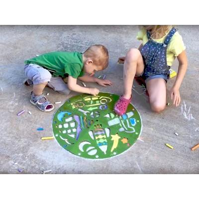 Игры на улице. Трафареты для мальчиков Рисуем на асфальте - фото Ранок Креатив