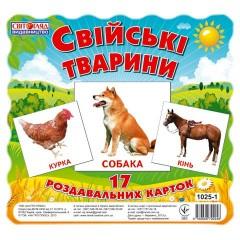 Комплект мини-карточек Домашние животные