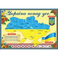 Плакат Украина превыше всего