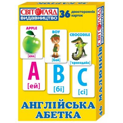 Комплект карток для вивчення англійської Англійський алфавіт - фото Ранок Креатив