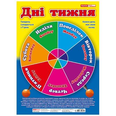 Плакат Времена года и дни недели - фото Ранок Креатив