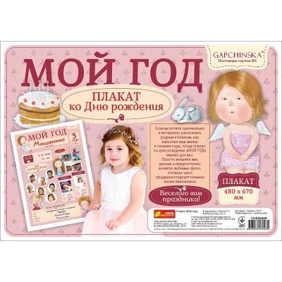 Плакат ко дню рождения Мой первый год, для девочки - фото Ранок Креатив