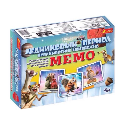 Настільна гра Мемо, Льодовиковий період - фото Ранок Креатив