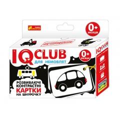 Карточки на шнуровке Транспорт IQ-club на украинском языке