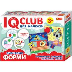 Обучающие пазлы Изучаем формы, на украинском языке IQ-club