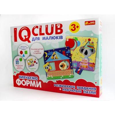 Навчальні пазли Вивчаємо форми, українською мовою IQ-club - фото Ранок Креатив