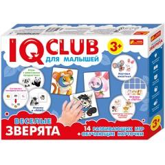 """Обучающие пазлы """"Забавные зверята"""" IQ-club, на русском языке"""
