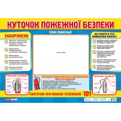 Плакат Уголок пожарной безопасности