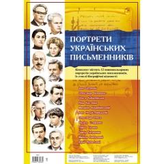 Комплект плакатів Портрети українських письменників