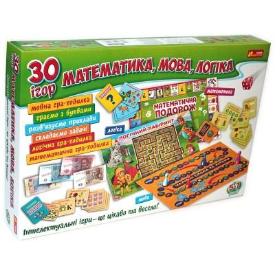 Великий набір 30 ігор для навчання. Математика, мова, логіка. - фото Ранок Креатив