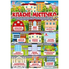 Плакат для оформлення класу Класне містечко НУШ