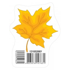 Прикраса Осінній листок жовтий НУШ
