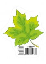Украшение Осенний лист зелений НУШ